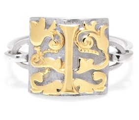 Ikuria gold and silver ring