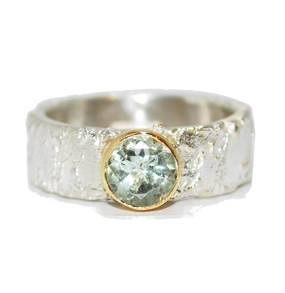 Prasiolite Gemstone Ring