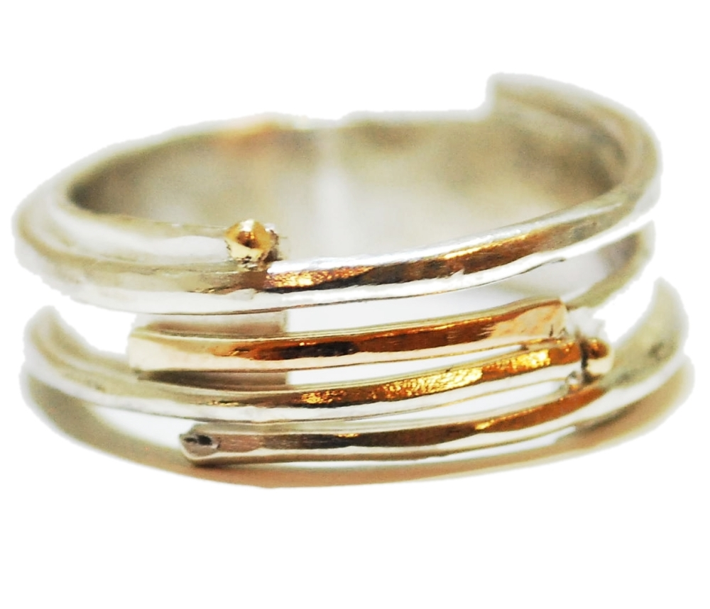 Gold And Silver Detailed Ring