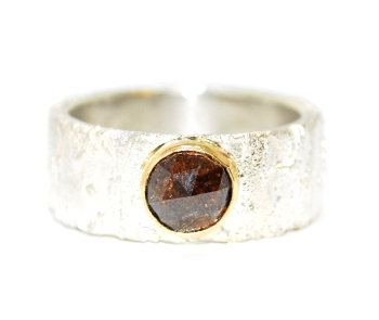 Handmade and Unique Brown Diamond Ring