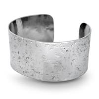 Handmade Silver Glitter Cuff