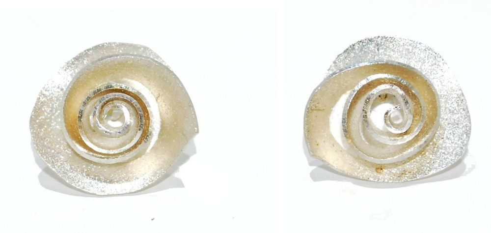 Silver Rose Earrings Studs