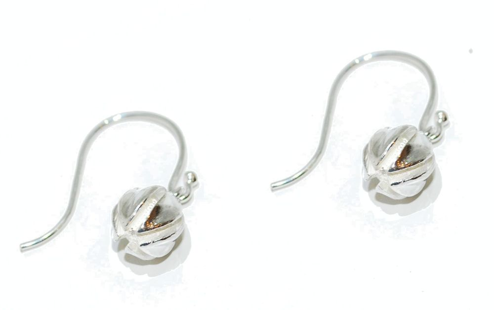 Silver Pod/Seed Earrings