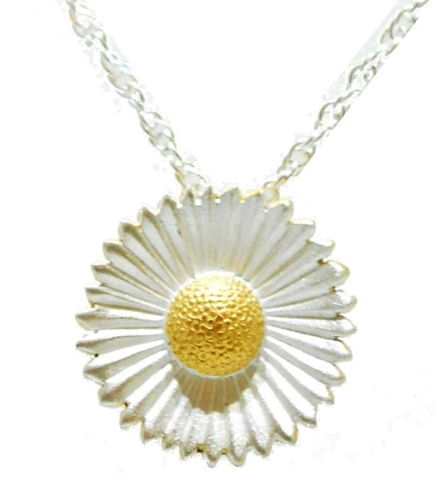 handmade silver daisy necklace
