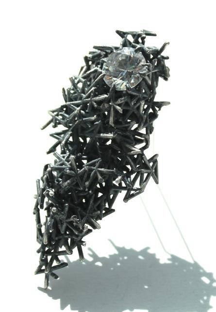 lindsay hill - New Designers - Quirky gemstone Brooch - Unusual Designer Jewellery