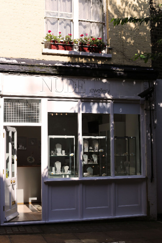 Nude Jewellery London jewellery boutique shop front, Mayfair