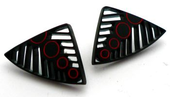 Black Tribal Earrings