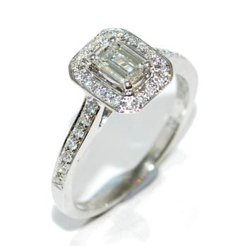 Emerald Cut Diamond Engagement Ring