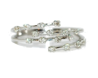 Four Strand Unusual Eternity Diamond Engagement Ring