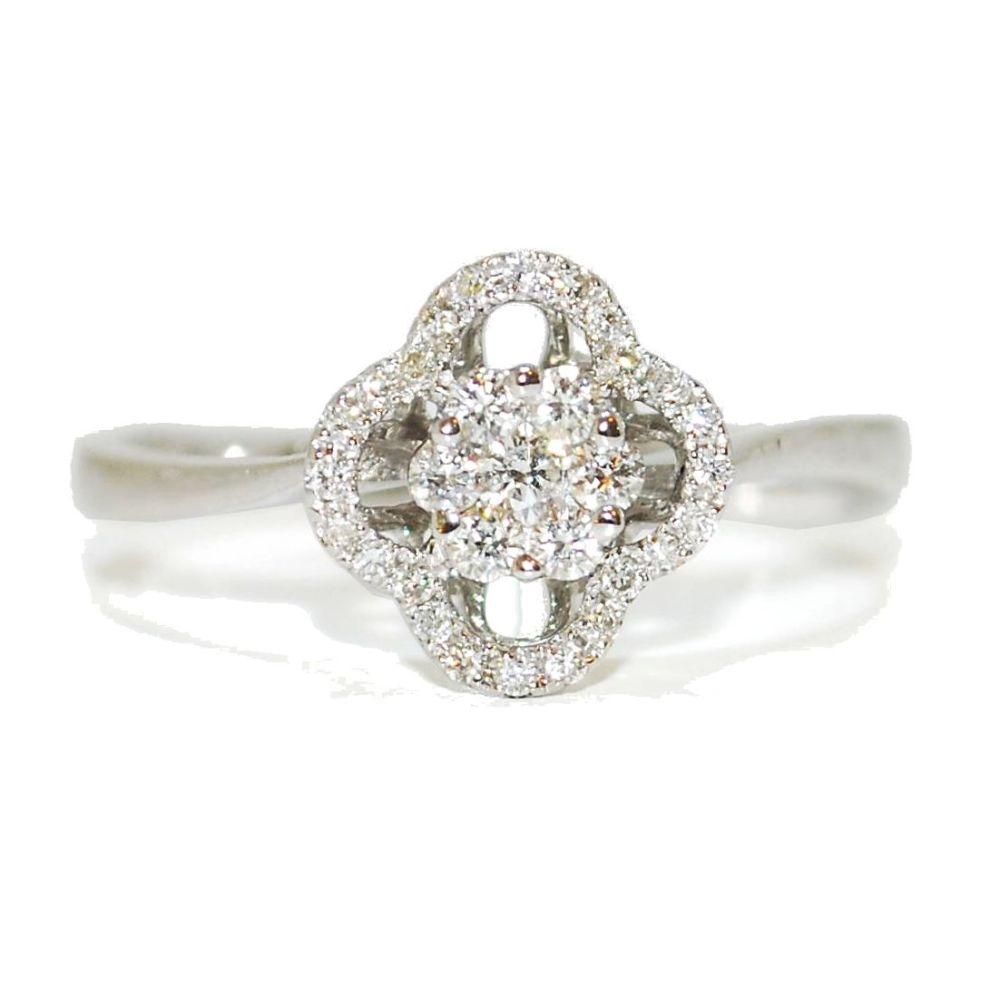 Fleur Diamond Encrusted Engagement Ring