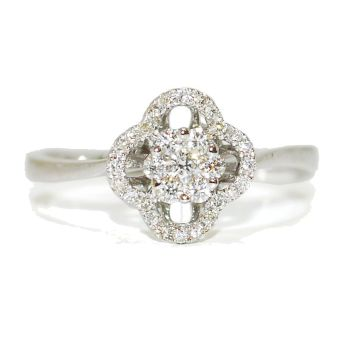 Fleur Diamond Encrusted Engagement Ring