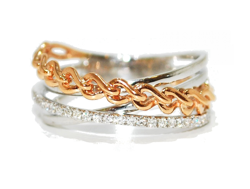 Rose Gold Diamond Unusual Eternity Ring