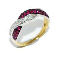 Ruby and Diamond Unusual Eternity Ring