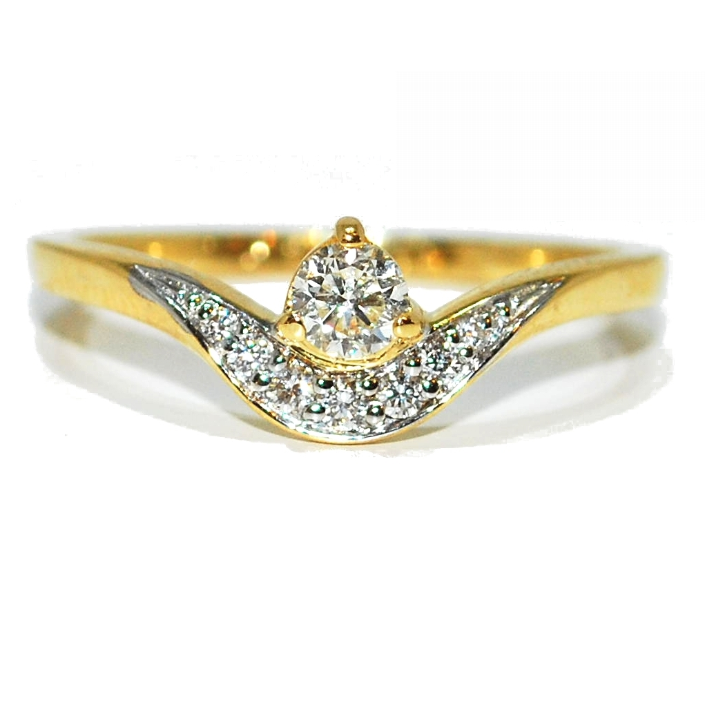Yellow Gold Quirky Diamond Eternity/Engagement Ring