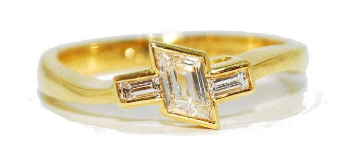 a-symetrical unusual diamond enagement ring