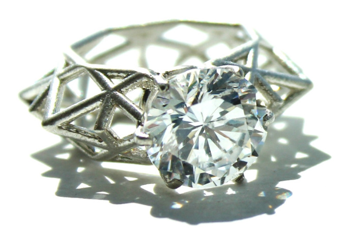 unusual geometric crystal ring