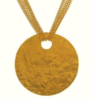 Gold Multi Chain Glitter Ball Necklace