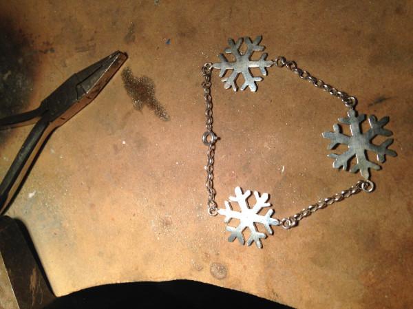 jewellery class - Terry snowflake bracelet