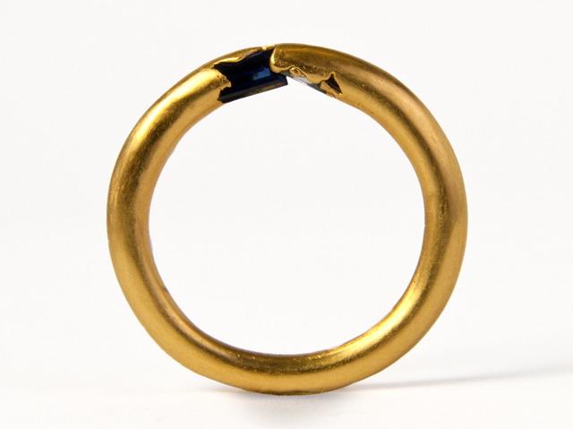 unique handmade unusual sapphire ring