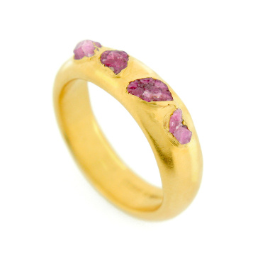 handmade unusual rand unique raw ruby gemstone ring, quirky engagement ring