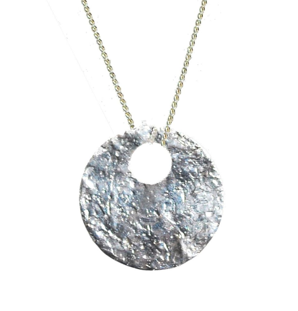 Glitter Ball Disk Necklace
