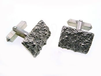 Small Silver Granulation Cufflinks
