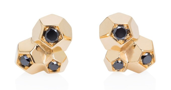 black diamond designer rock it ! earrings