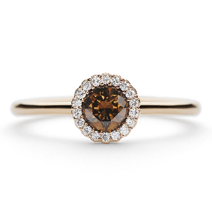 Cannele Bridal Chocolate Rose Diamond Engagement Ring by designer Andrew Ge