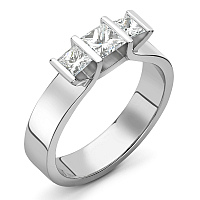 triumph, designer, contemporary engagement ring, modern princess cut