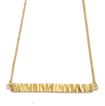 Bar Necklace - Gold Plated Silver