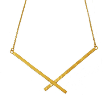 Gold Abstract Necklace