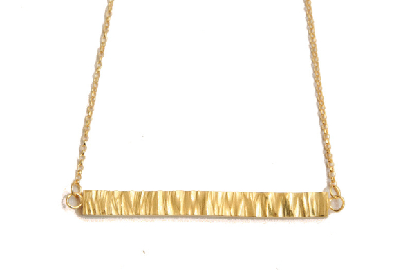 gold plate bar necklace
