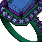 bespoke jewellery technical cad image