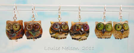 Mini owl earring by Louise Nelson