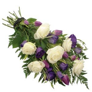 Purple & White Tied Sheaf