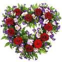 Purple & Red Heart