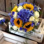 Hydrangea and Sunflower bouquet