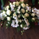Rose orchid hydrangea arrangement