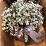 Simple Gyp wedding bouquet