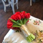 Tulip hand tied wedding bouquet