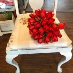 Red tulip hand tied bouquet