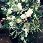 Wild Veronica, Rosemary, Lisianthus foliage wedding bouquet