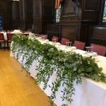 Foliage garland wedding table