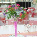 Hot Pink & Orange Vase Arrangement