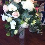 Vintage Tall Vase Arrangement With Clear Gel