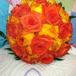 Neranja Orange rose & Ranunculus Hand Tied Bouquet