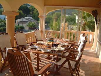 El Dorado Breakfast on the balcony