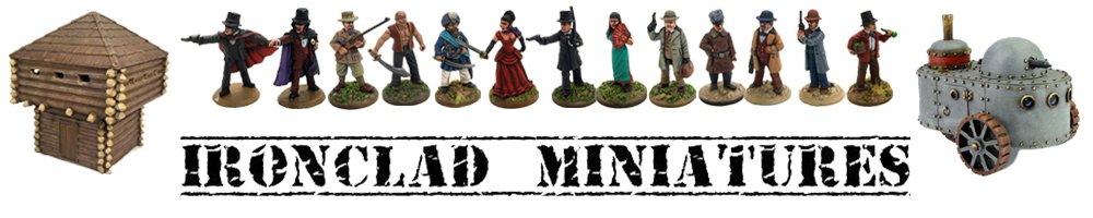 Ironclad Miniatures, site logo.