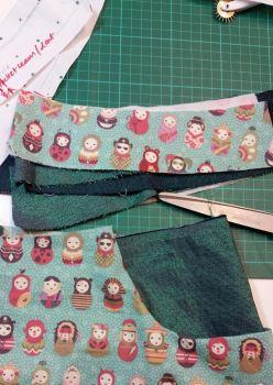 fashion design crop - samanthas almost finished skirt1. fashion design & p
