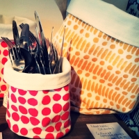 Fabric storage baskets - Christmas Sew In Brighton